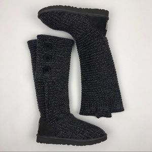 UGG 1876 CLASSIC CARDY BOOTS CHARCOAL SILVER